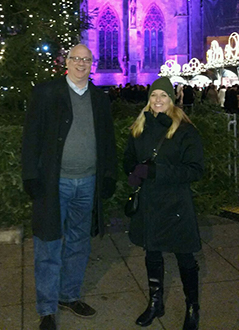 VP of PR, Chris Martin and PR Manager, Jenny Jaacks on-site in Vienna