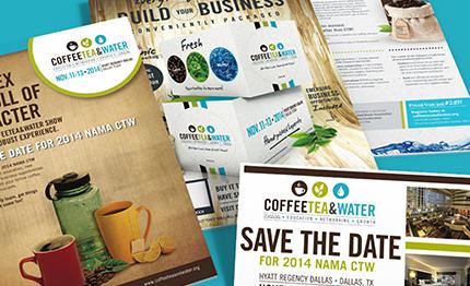 NAMA - CTW - Coffee Tea and Water - Print - event marketing