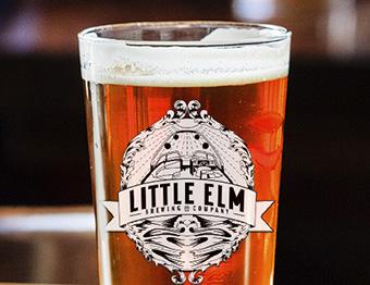 Little Elm Brewing - glass of beer - Brand Building