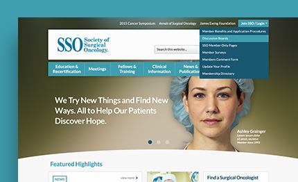 SSO - Society of Surgical Oncology - Healthcare Websites - Web Design - Web Development