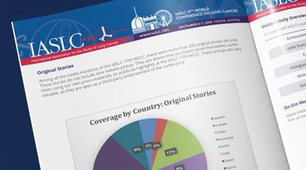 IASLC - Press report page that shows a graphic