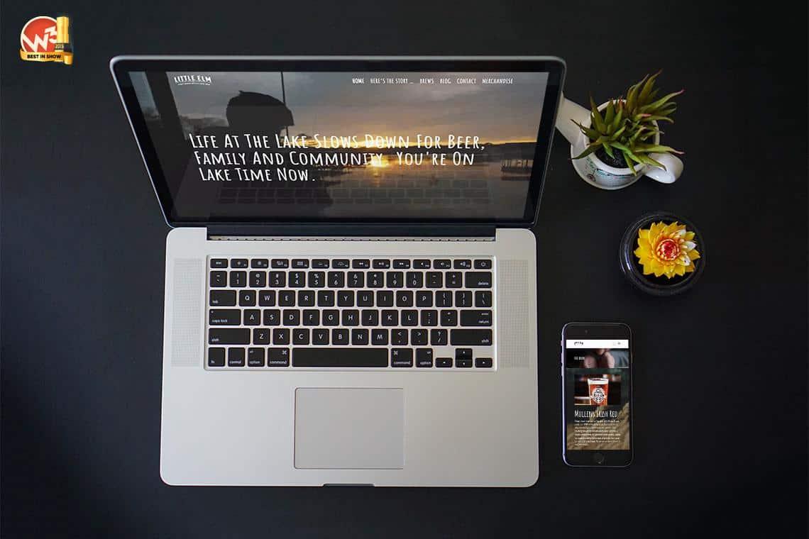 beer website on a laptop