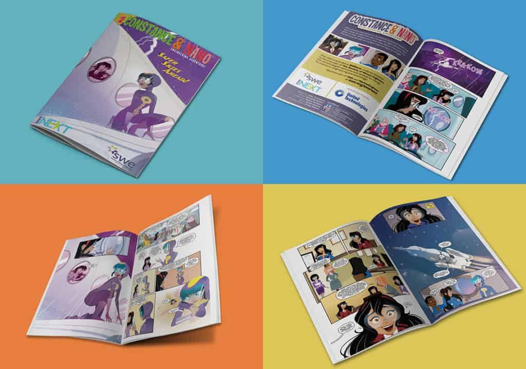 Society of women engineers branded content comic series