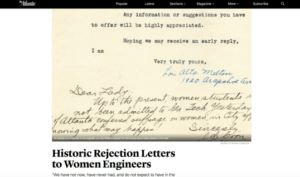 Historic Rejection Letters to Women Engineers - Brand Journalism