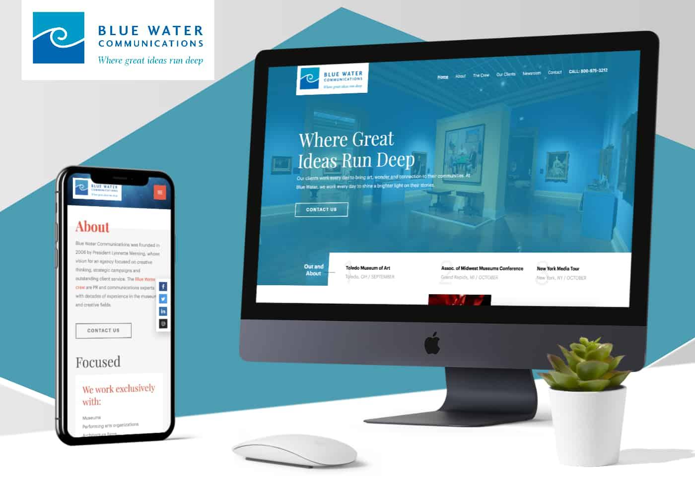 Blue Water Communications website