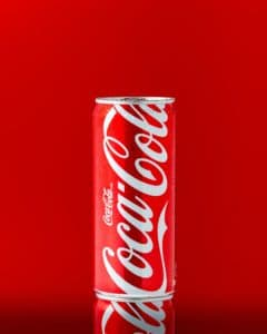 Building a strong brand graphic. Coca-Cola can branding