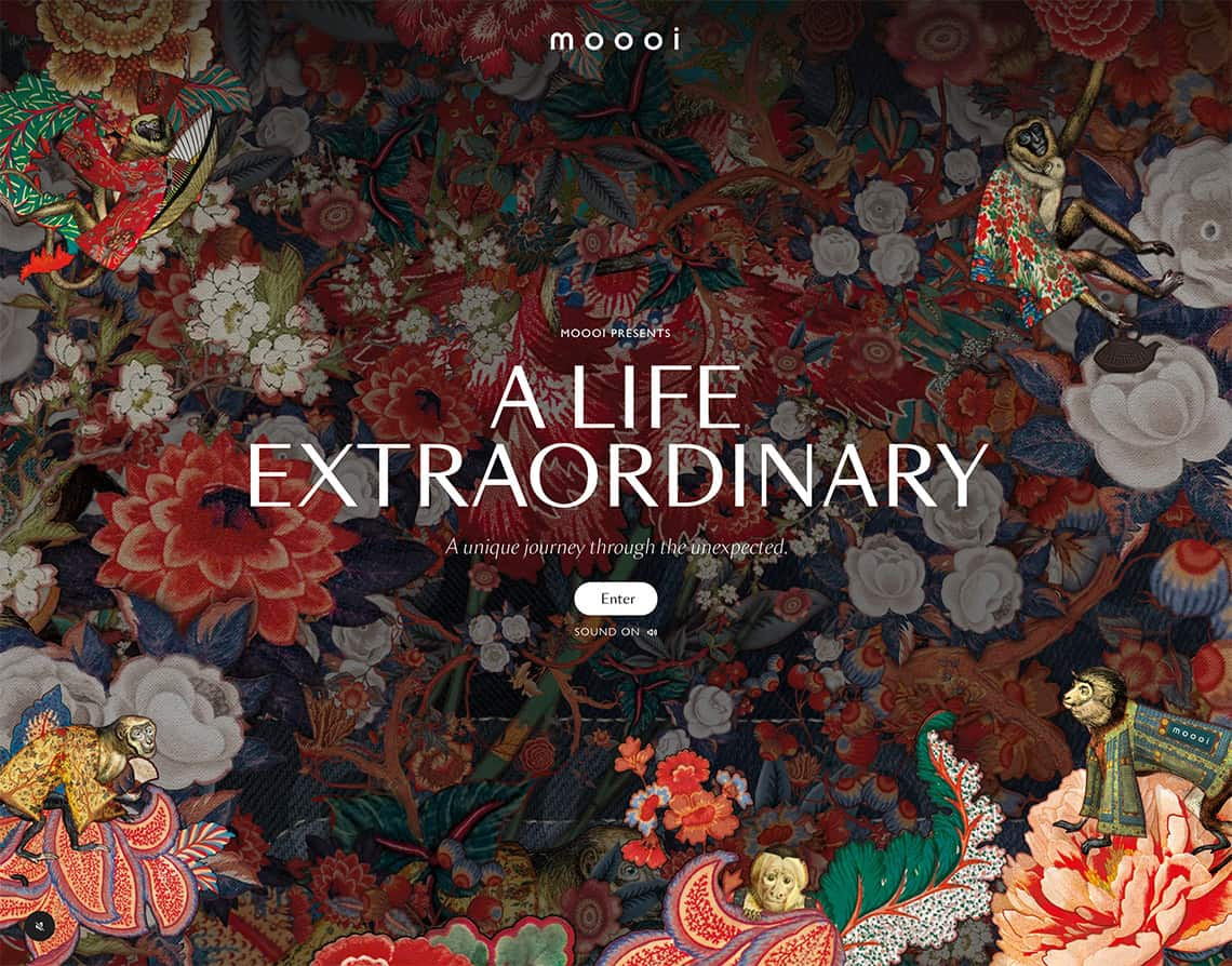 Moooi.com has a nice website that utilizes audio as our top trends in web design