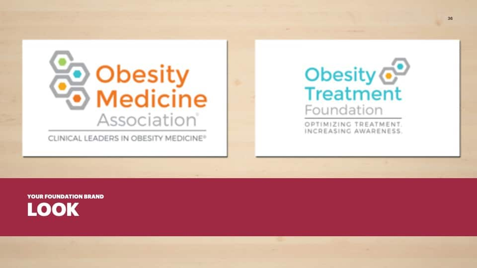 AFG Edge Virtual Conference 2020 Presentation - Foundation Branding - Brand Look Example - Obesity Medicine Association - Obesity Treatment Foundation