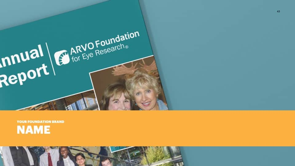 AFG Edge Virtual Conference 2020 Presentation - Foundation Branding - Brand Name Example - The Association for Research in Vision and Ophthalmology Foundation